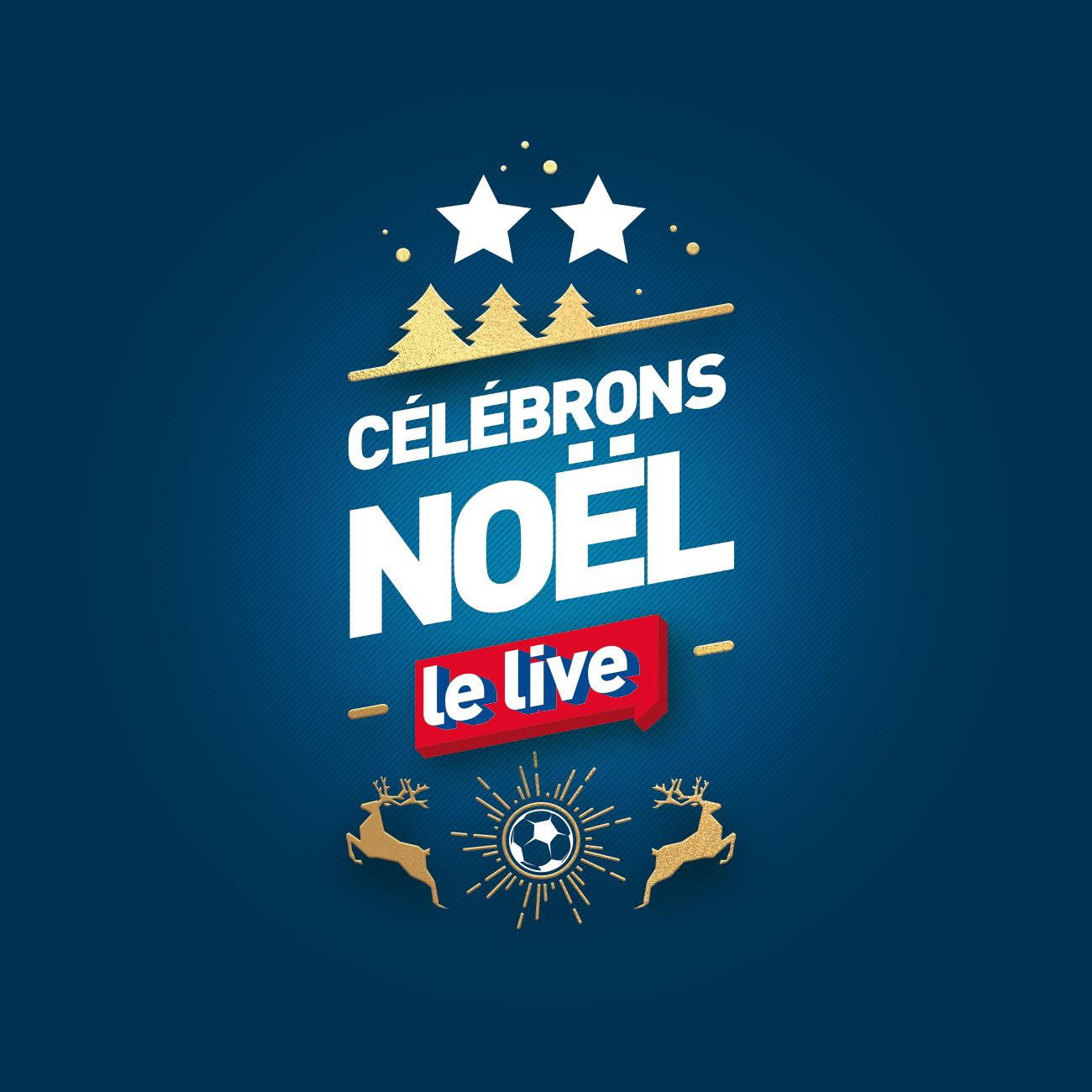 """le logo du live Intersport """"Célébrons Noël"""""""